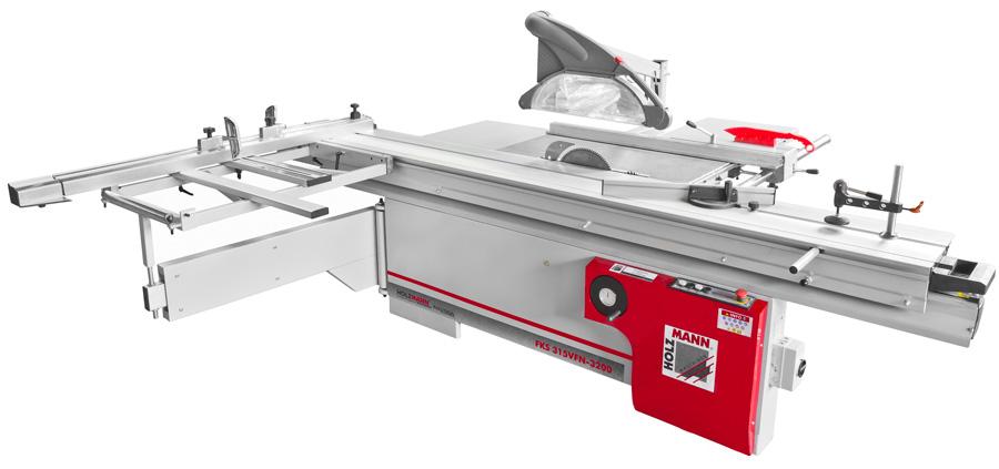 Holzmann, FKS 315VFN-3200, Formátovací pila Holzmann FKS 315VFN-3200, profesionální hliníkový posuvný stůl s vedením