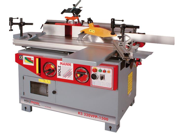 Holzmann, K5 320VFP-1500, Pětioperační stroj Holzmann K5 320VFP-1500, těžký průmyslový stroj s velkým podílem litiny