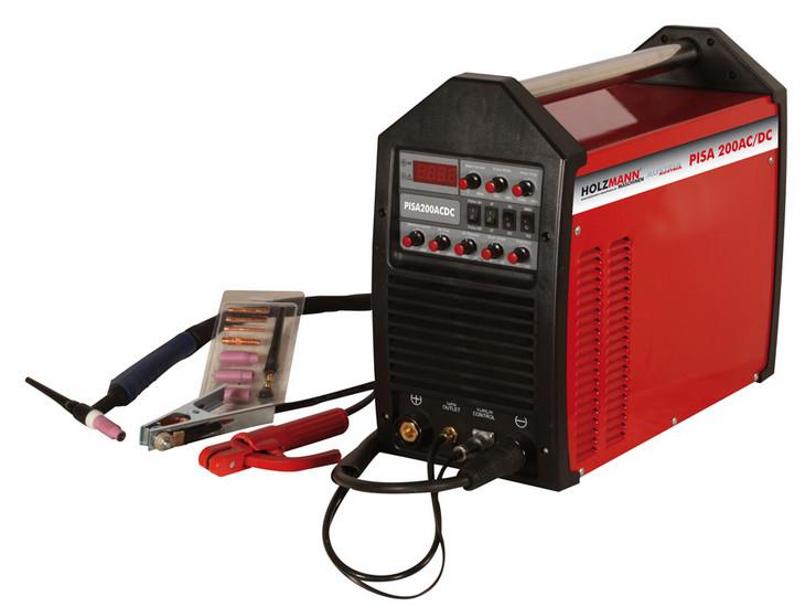 Holzmann, PISA 200AC/DC, Svářecí pulsní Invertor WIG/TIG Holzmann PISA 200AC/DC, vhodný pro měkkou a nerezovou ocel a hliník