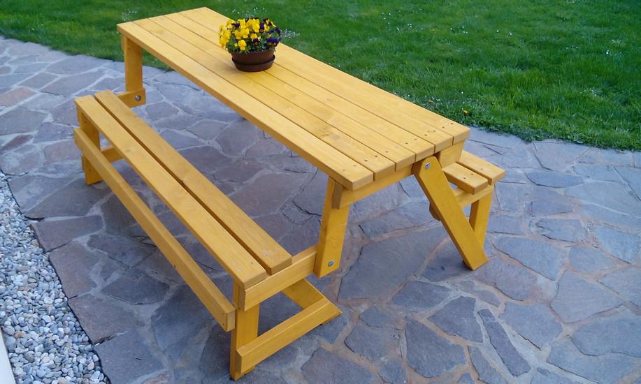 Rozkládací zahradní lavice - KOMBI