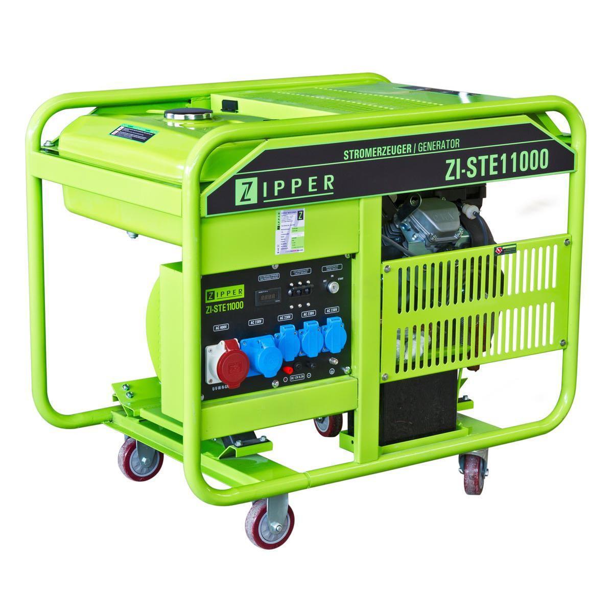 Holzmann, ZI-STE11000, Generátor Zipper ZI-STE11000 NEW PROFESSIONAL, snadné použití